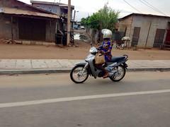Female Motorcyclist, Cotonou, Benin, #JujuFilms
