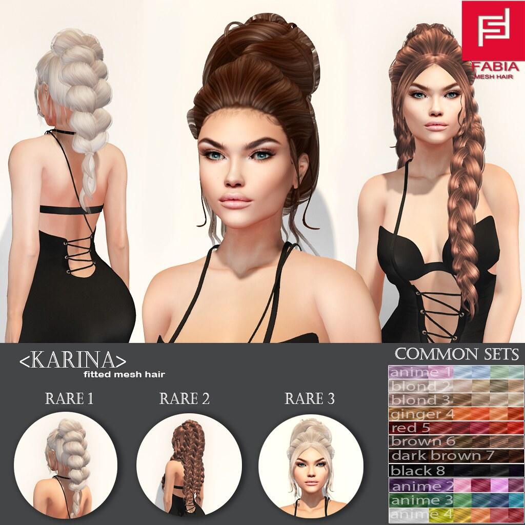 -FABIA- Mesh Hair Gacha   <Karina> - TeleportHub.com Live!