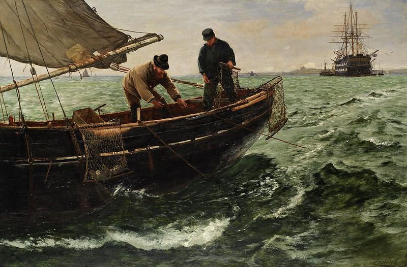 Charles Napier Hemy - Falmouth Natives