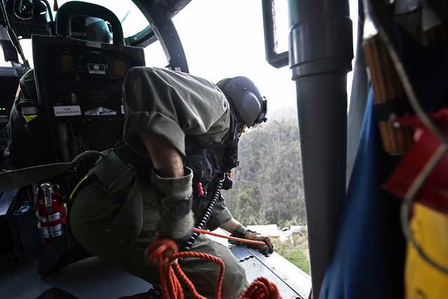 Coast Guard aircrews deliver Hurricane Maria relief supplies in Puerto Rico