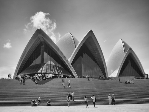 The Sydney Opera House BW