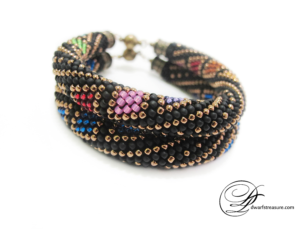 Exclusive multicolored beaded crochet bracelets