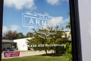 Vinyl Decal Lettering - Grand Armory Brewery