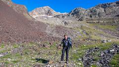 To już na 3000m. Widoczny szczyt coraz bliżej. To ja Tomek.