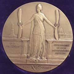 First Transatlantic Flight medal by Julio Kilenyi