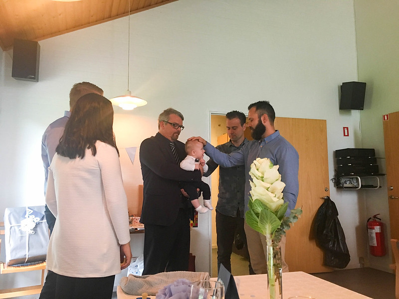Theo's baby blessing