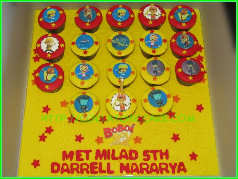 Cupcake set Boboiboy DARRELL