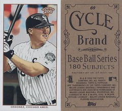 2002 Topps 206 Mini Baseball Card / Series 1 / Cycle - MAGGLIO ORDONEZ #69 (Outfielder) (Chicago White Sox)