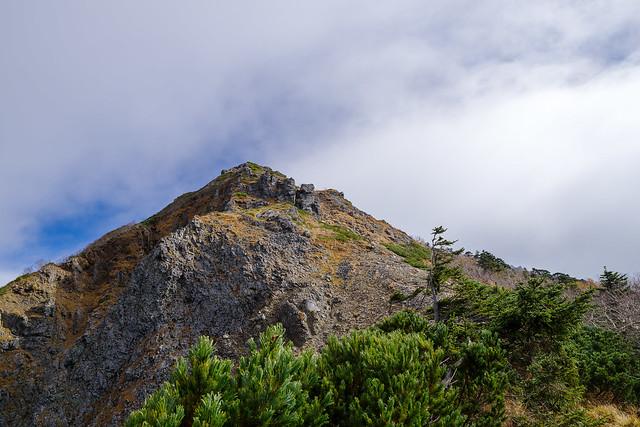 西ギボシへの斜面