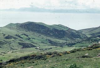 Moroccan coast from Puerta de Bujia. 12-13 miles away. 1975. 8 miles=closest at Tarifa point