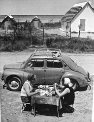 1950s RENAULT 4CV Berline with Open Air Restaurant