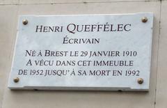 Photo of Henri Queffélec marble plaque