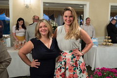 """Bree Sodano, financial planner and owner of From Sheep to Sharks, and State Representative Stephanie Cummings during the Champagne and """"Celebrity"""" Cupcakes Auction held at the Country Club of Waterbury. Rep. Cummings unveiled the """"Water Berry"""" cupcake - a rosé cupcake with a raspberry filing and homemade butter cream frosting."""
