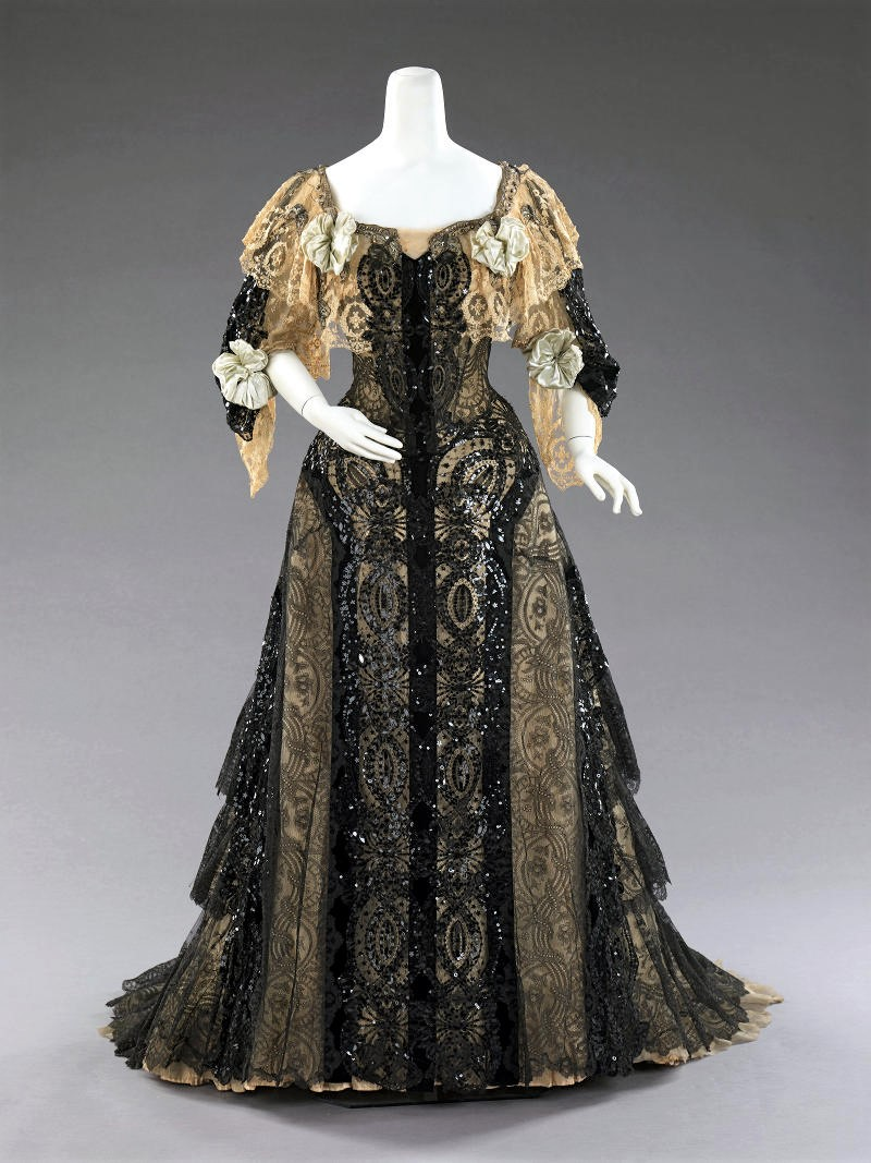 1890 Evening ensemble. American. Silk. metmuseum