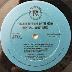 THE UNIVERSAL ROBOT BAND:FREAK IN THE LIGHT OF THE MOON(LABEL SIDE-B)