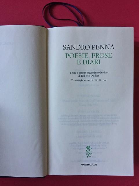 Sandro Penna, Poesie, prose e diari. Mondadori, i Meridiani; Milano 2017. Resp. gr. non indicata. Pag. IV, pag. V: frontespizio [part.].