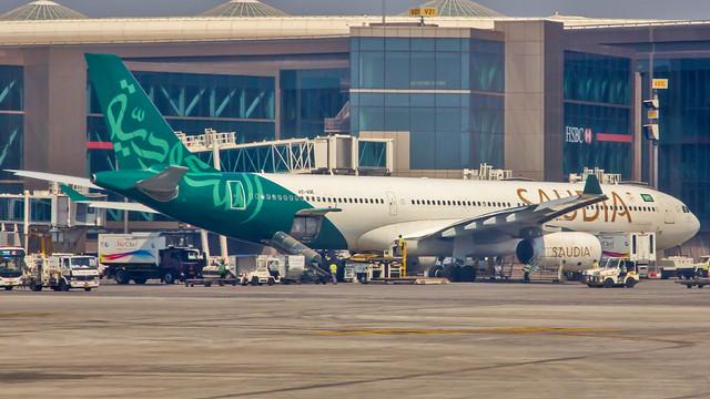 Saudia (Saudi Arabian) Airbus A330-300 HZ-AQE Mumbai (BOM/VABB)
