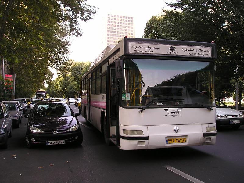 Renault service bus, Tehran, Iran.
