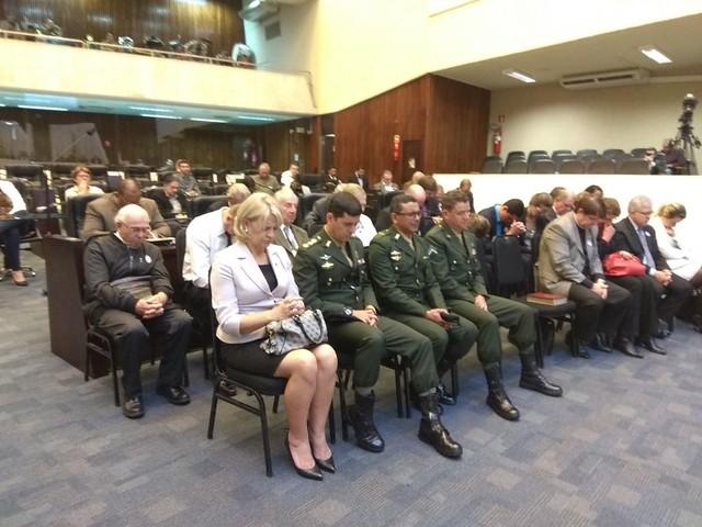 Sessão solene comemorativa aos 500 anos da Reforma Protestante no plenário da Assembleia Legislativa do Estado do Paraná.