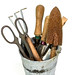 Small photo of Galvanized Bucket With Garden Tools