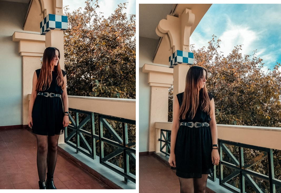 look_ootd_style_primark_belt_black_dress