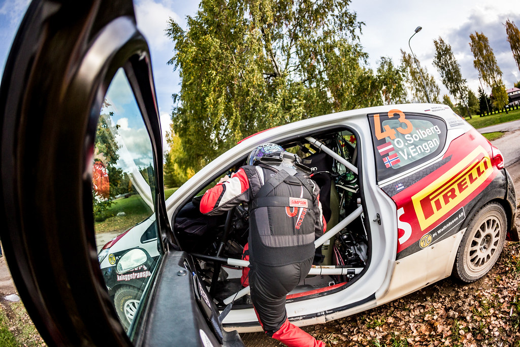 Solberg Oliver, Sports Racing Technologies, 208 R2 ambiance portrait during the 2017 European Rally Championship ERC Liepaja rally,  from october 6 to 8, at Liepaja, Lettonie - Photo Thomas Fenetre / DPPI