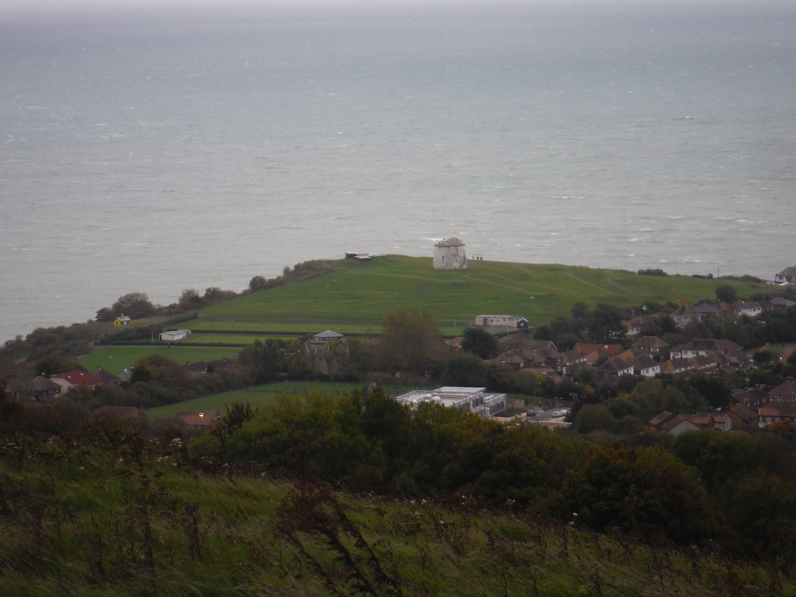 Martello Tower No. 3 and Folkestone Outskirts SWC Walk 93 - North Downs Way: Sandling to Folkestone or Dover