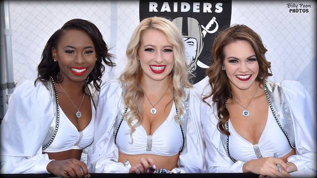 2017 Oakland Raiderettes Krishinda, Courtney & Kindra