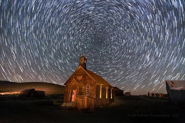 Bodie Church Star Trails Saturday October 14