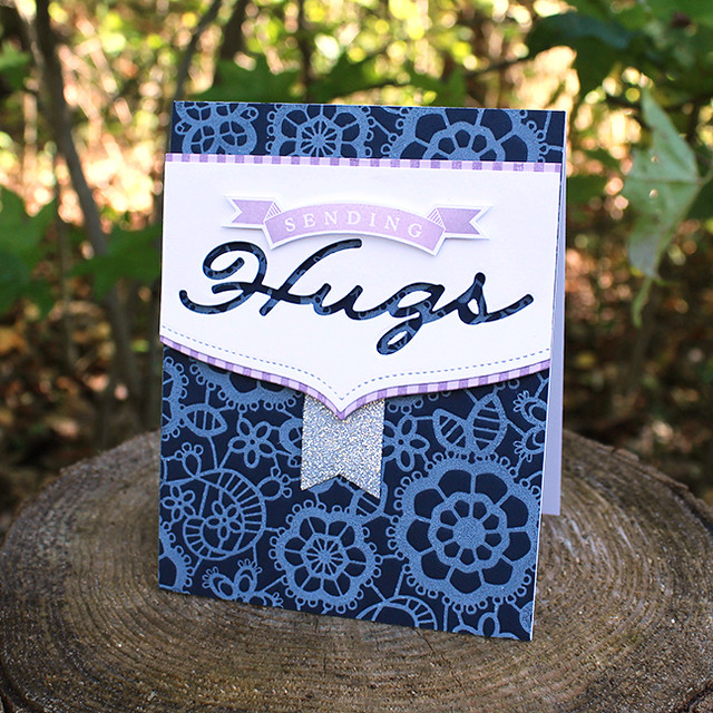 Lace Sending Hugs Card