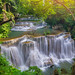 Amazing beautiful waterfalls in tropical forest at Huay Mae Khamin Waterfall Level 4