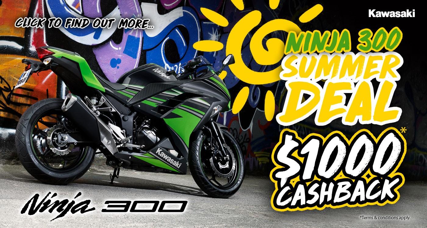 Ninja 300 Summer Deal