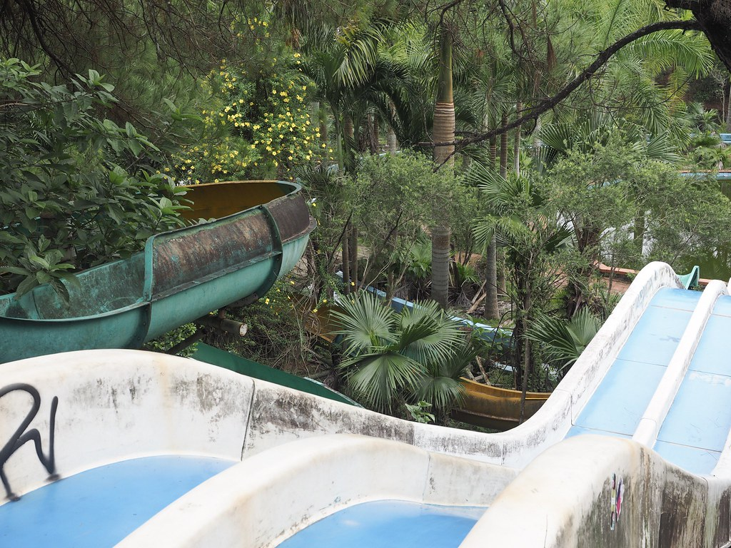 abandoned water park Thuy Tien Lake