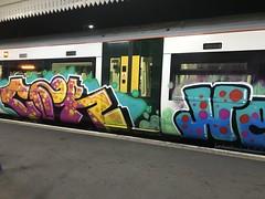 Train graffiti at Kings Lynn