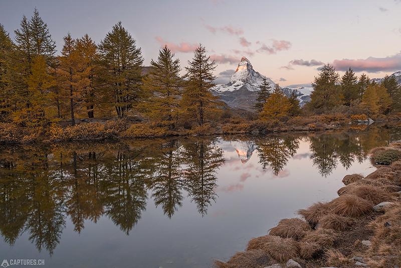 Sunrise at the Grindjsee - Zermatt