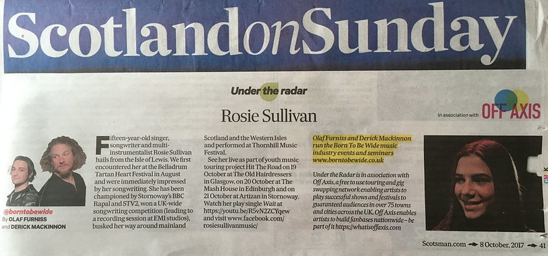 Scotland On Sunday, 8 October 2017, Rosie Sullivan
