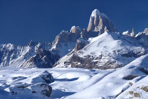 Hielo, nieve, rocas y paz.