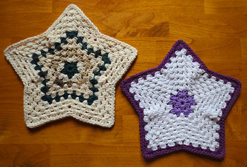 Scrappy Star Dishcloths