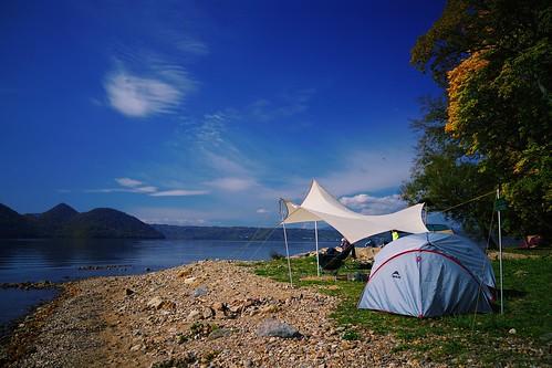 Lake Toya camp vibes