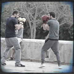 boxing at the park