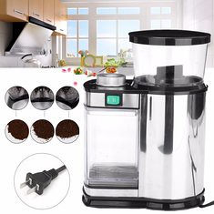 Electric Stainless Steel Coffee Bean Spice Grinder Mill US Plug Kitchen Bar Tool (1098407) #Banggood