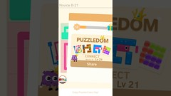 Puzzledom CONNECT Level 1 to 40 Game Novice B Complete Lines In Mutiple Colours Gameplay   OVAL