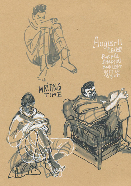 Sketchbook #107: Reading