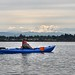Semiahmoo Drayton Harbor Patty Kayaking with Mt Baker behind by vermillion$baby