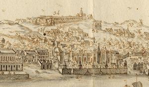 Belém_e_Ajuda_-_Vista_e_perspectiva_da_Barra,_Costa_e_Cidade_de_Lisboa_(Bernardo_de_Caula,_1763)