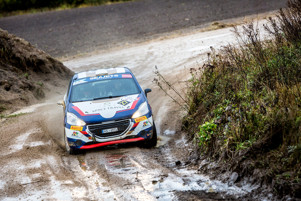 27 Muradian Artur and Chelebayev Pavel, Neiksans Rally Sport, Peugeot 208 R2 action during the 2017 European Rally Championship ERC Liepaja rally,  from october 6 to 8, at Liepaja, Lettonie - Photo Thomas Fenetre / DPPI