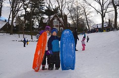 The Kids And Their Sleds