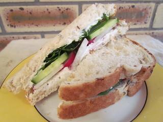 Radish and Creamy Cheese 'Bagel' Sandwiches