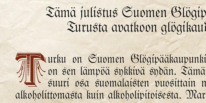 Suomen glögipääkaupunki Turku julisti glögikauden avatuksi