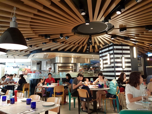 Pizza Express in Shatin interior